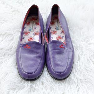 Keds Leather Purple Loafers NWOB SZ 8M